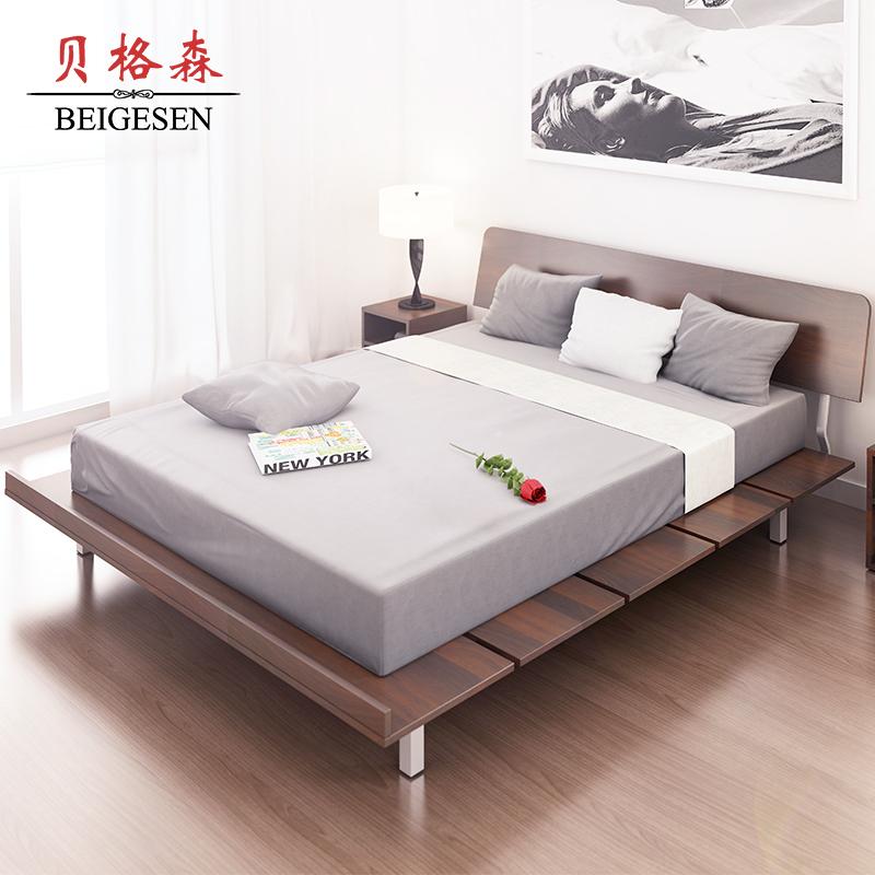Hiện đại đơn giản tatami giường phòng ngủ chính bảng điều khiển cá tính giường 1.5 m giường đôi 1.2 giường đơn khung giường