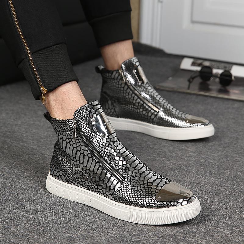 冬季个性男靴韩版休闲高帮男鞋英伦真皮马丁靴子潮流时尚加绒短靴