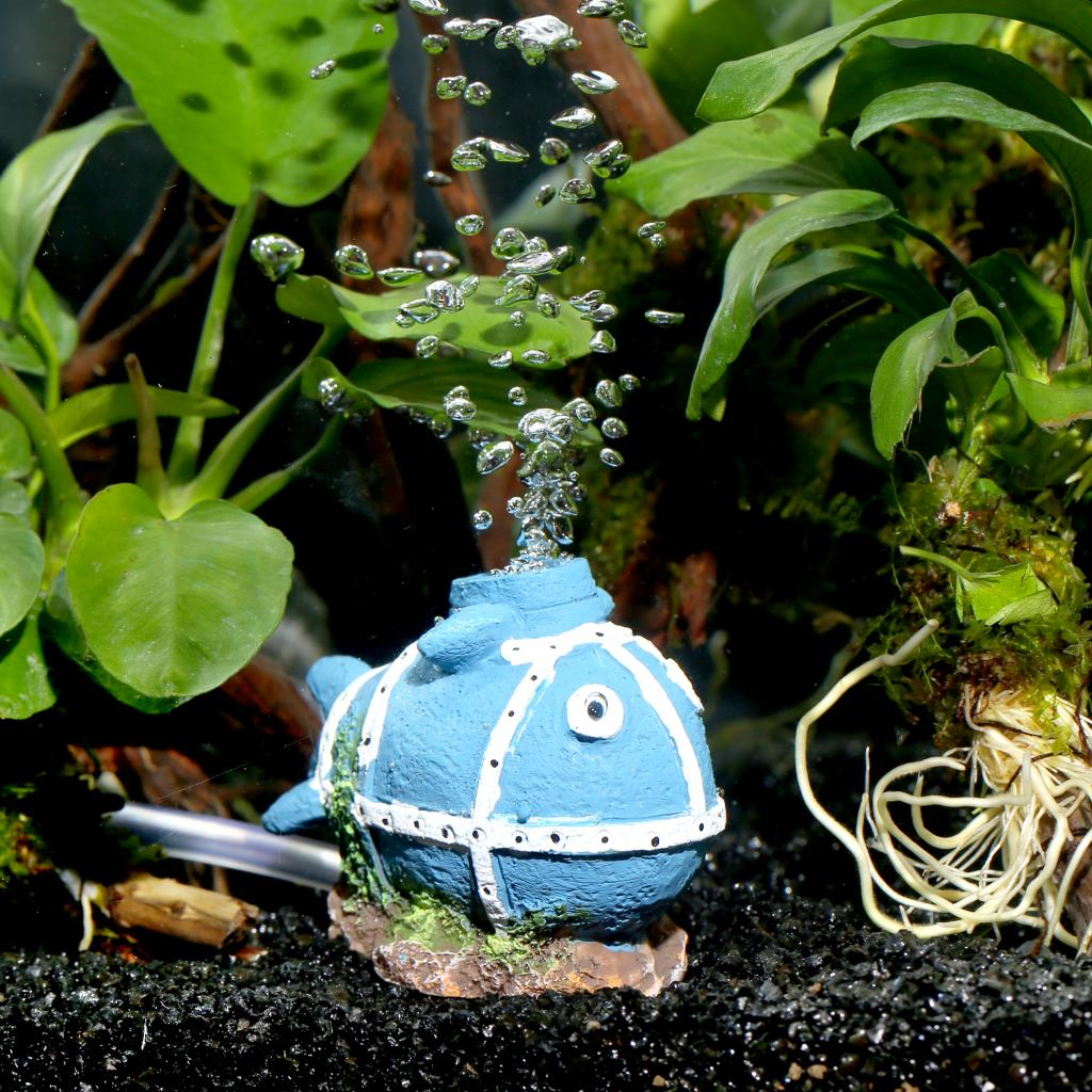 Aquarium Bubble Stone Landscaping Decoration By Oxygen Playing Ornaments Whale