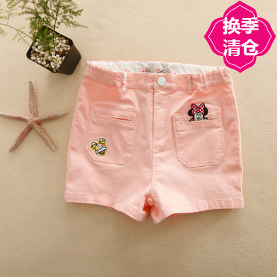 DSN children's clothing 2017 summer girls in large children's stretch shorts hot pants cotton pants KG4413 FF