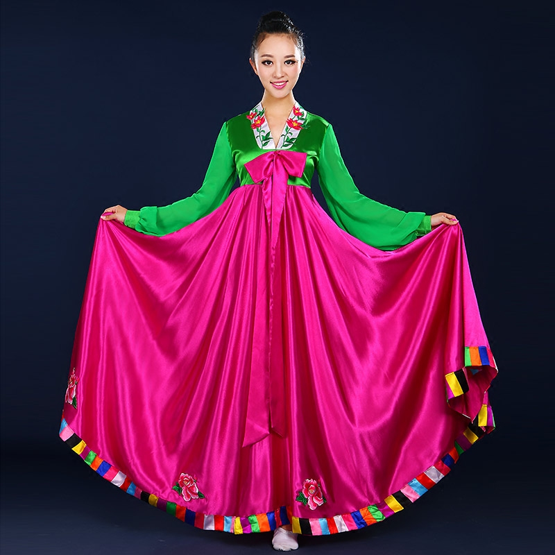 f943b3bbb22c1 Korean dance costumes hanbok dahongjia new improved traditional palace  national performance clothing adult female