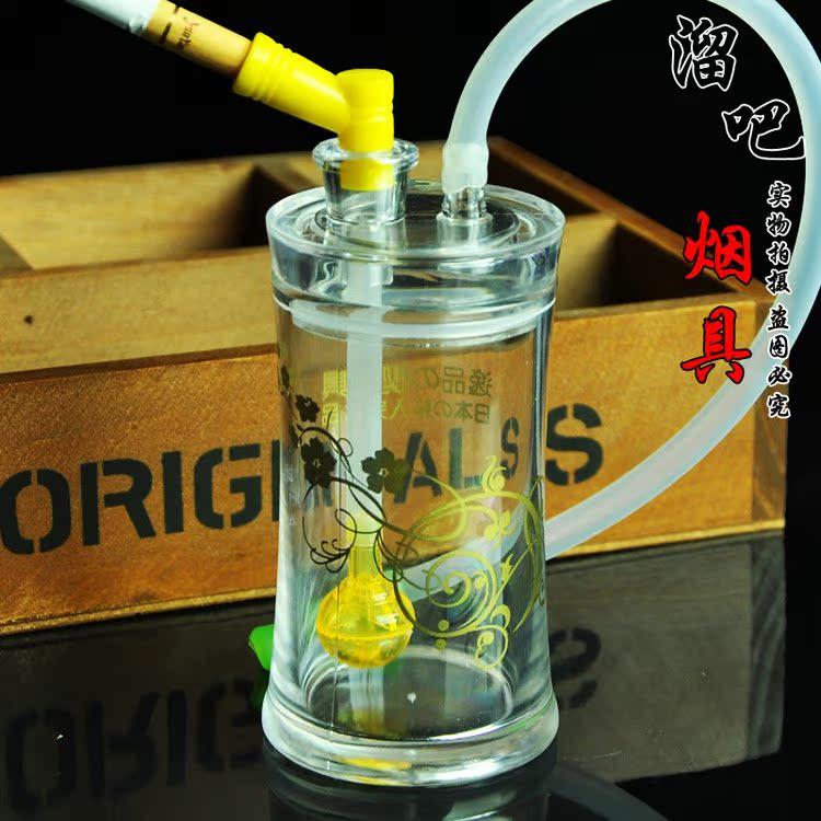 送礼款便携水烟壶壶全套配件水烟斗亚克力玻璃水晶烟具烟嘴烧锅