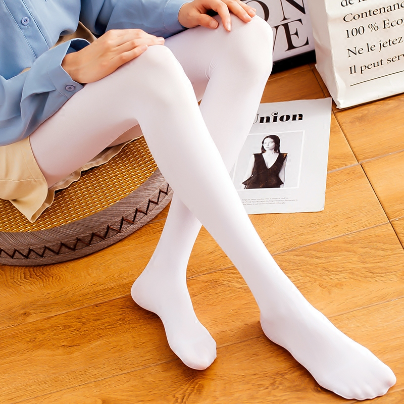 036241bce Japanese white stockings female pantyhose summer thin section anti-hook  silk spring and autumn Dance Base socks soft sister long socks