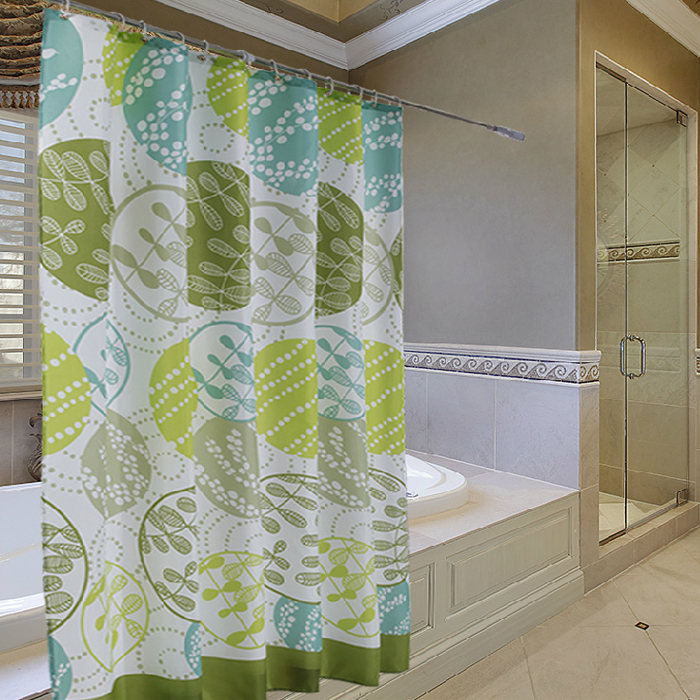 Round Dance Grass Shower Curtain Bathroom Thickened Waterproof Mildew Polyester Cloth Can Be Customized