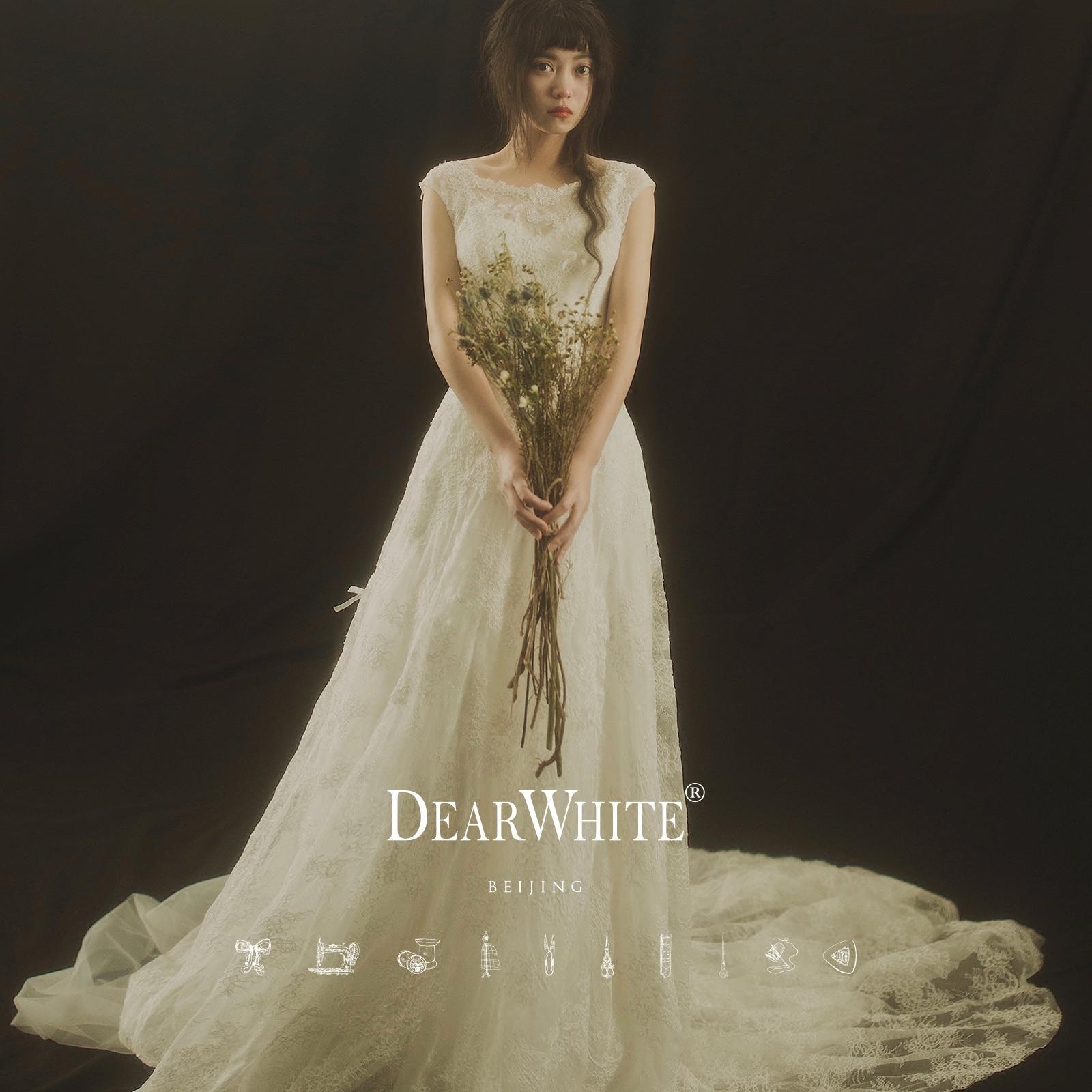"""Близко любовь уайт-плейнс создание подлинного """" цветы «DearWhite свадьба департамент кружево перетащить хвост свадьба"""