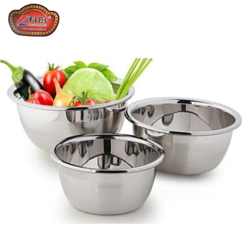 无磁不锈钢盆加厚打蛋盆汤盆加深洗菜盆调料理盆汤碗和面盆脸盆