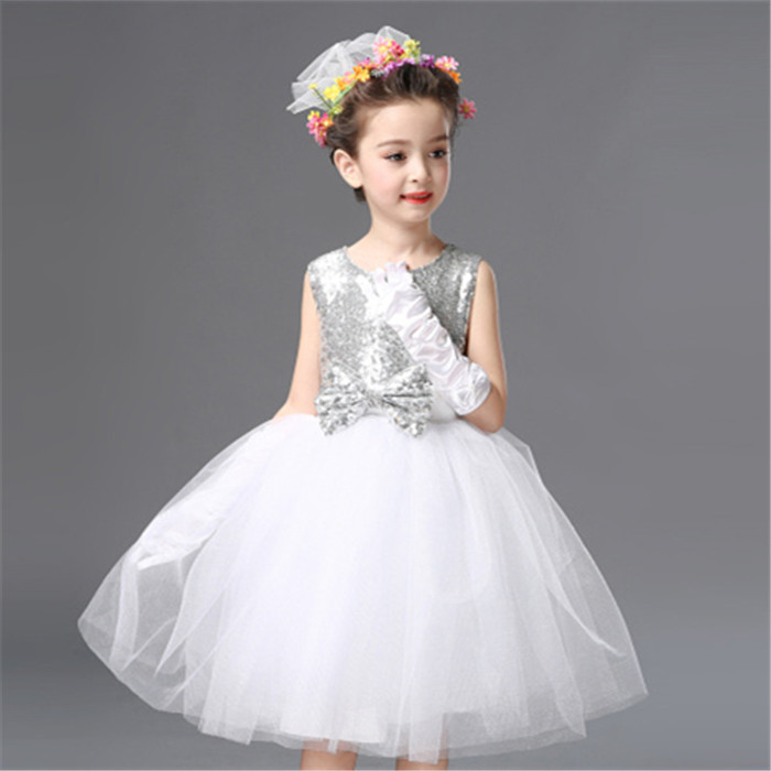 Children's performance clothes Children's dance Pengpeng skirt dress Princess gauze skirt Primary and secondary school students chorus performance clothes