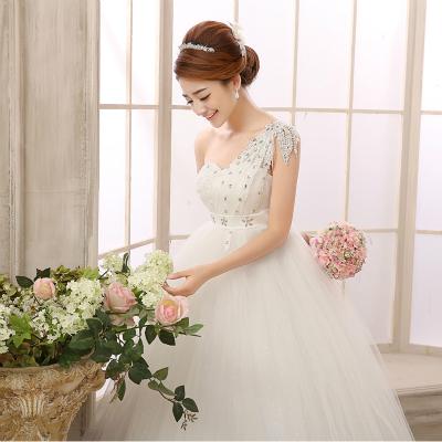 冬季婚纱礼服2015新款冬款冬天长袖毛领齐地加厚新娘结婚胖MM孕妇