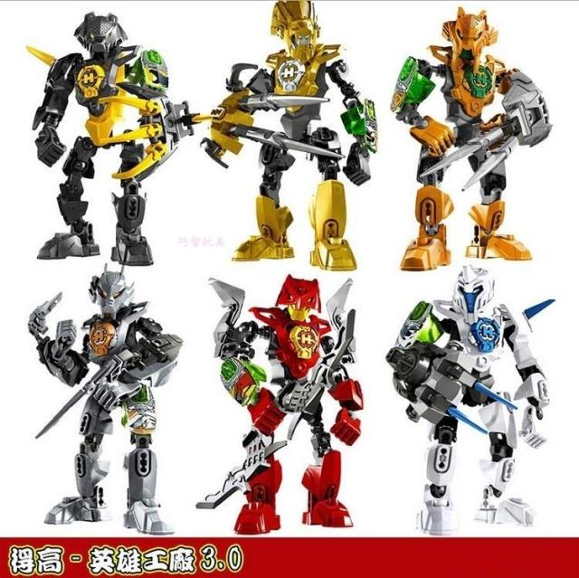 得高拼插星际模型战士系列hero3玩具工厂拼装英雄积木拼装积木玩