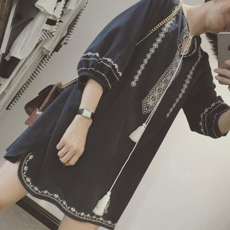 韩国ulzzang夏装女装纯色简约百搭宽松中袖套头T恤高腰短款上衣潮