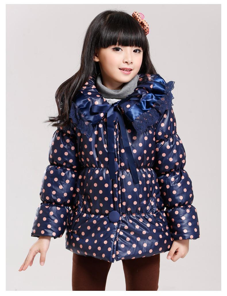 女童卫衣加厚加绒/开衫外套波点蝴蝶结蕾丝花边女宝宝羊羔绒棉衣