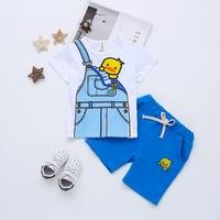 儿童短袖套装男新款纯棉童装夏季