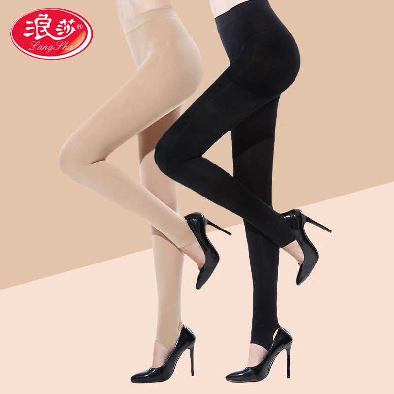 7efc40661ba Langsha stockings female spring and autumn models velvet leggings foot  thick pantyhose meat color socks was thin authentic