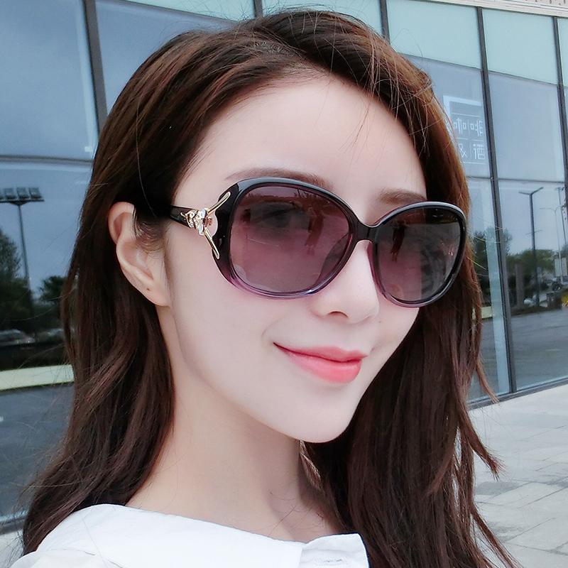 70297dd04fe 2019 new fashion retro sunglasses round face star models sunglasses female  tide polarized glasses long face eyes big face