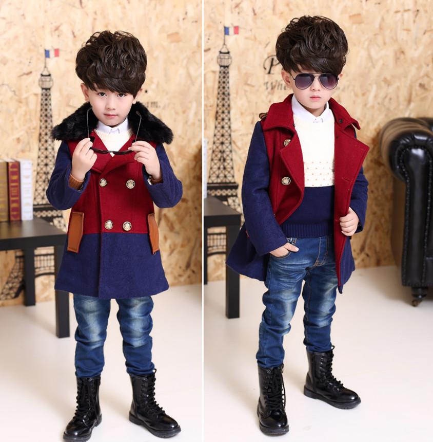 童装男童6秋冬装5新款8韩版潮儿童呢子大衣加厚中大童毛呢外套9岁