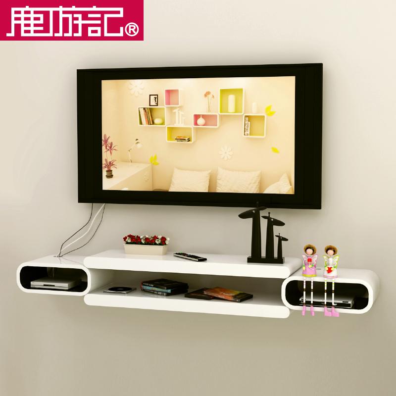 USD 233.08] Set-top box rack hanging bedroom TV background wall ...