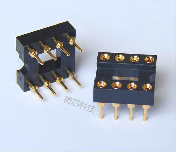 插座8脚适合IC座/DIP8全新圆孔镀金OPA2604OPA2111