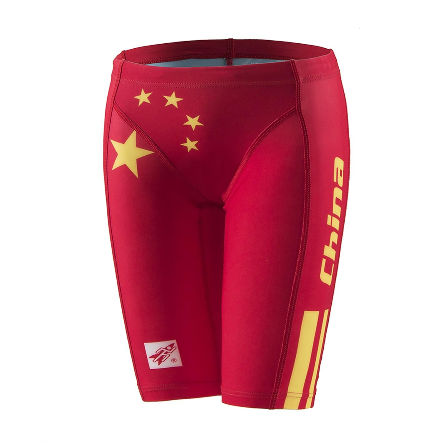 Rocket Science Sports Phiên bản quốc kỳ Trung Quốc bơi quần năm điểm quần bơi cạnh tranh - Nam bơi đầm