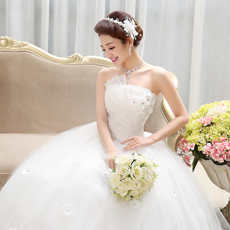 Wedding dress new 2018 summer Korean version of the fashion bride ...
