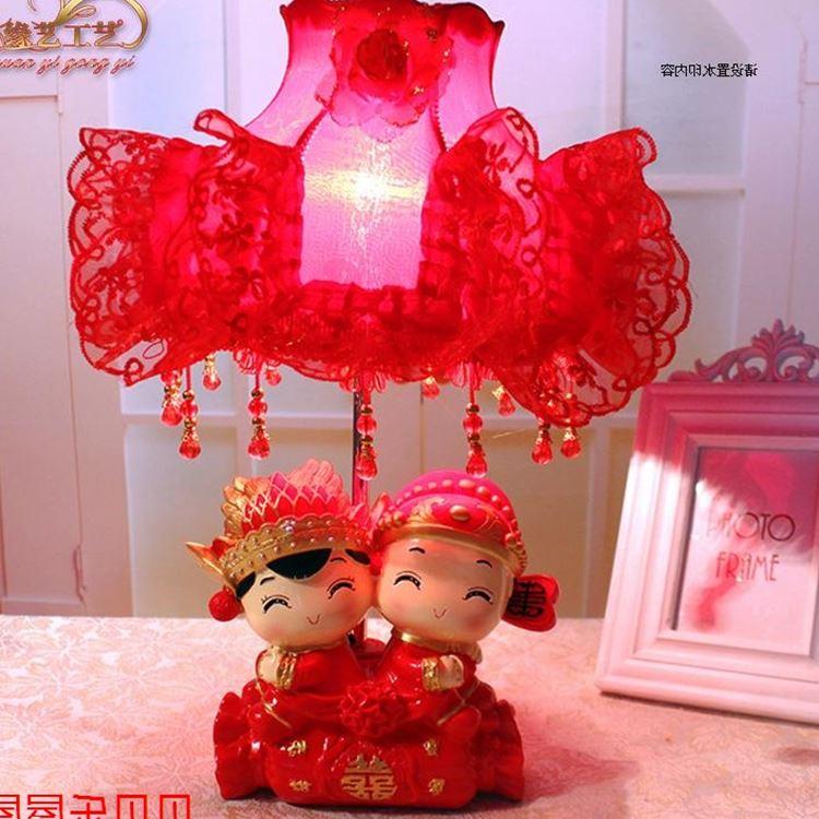 亏本热卖2016TD2110树脂白炽灯婚庆红色婚房喜庆用品浪漫装饰台灯