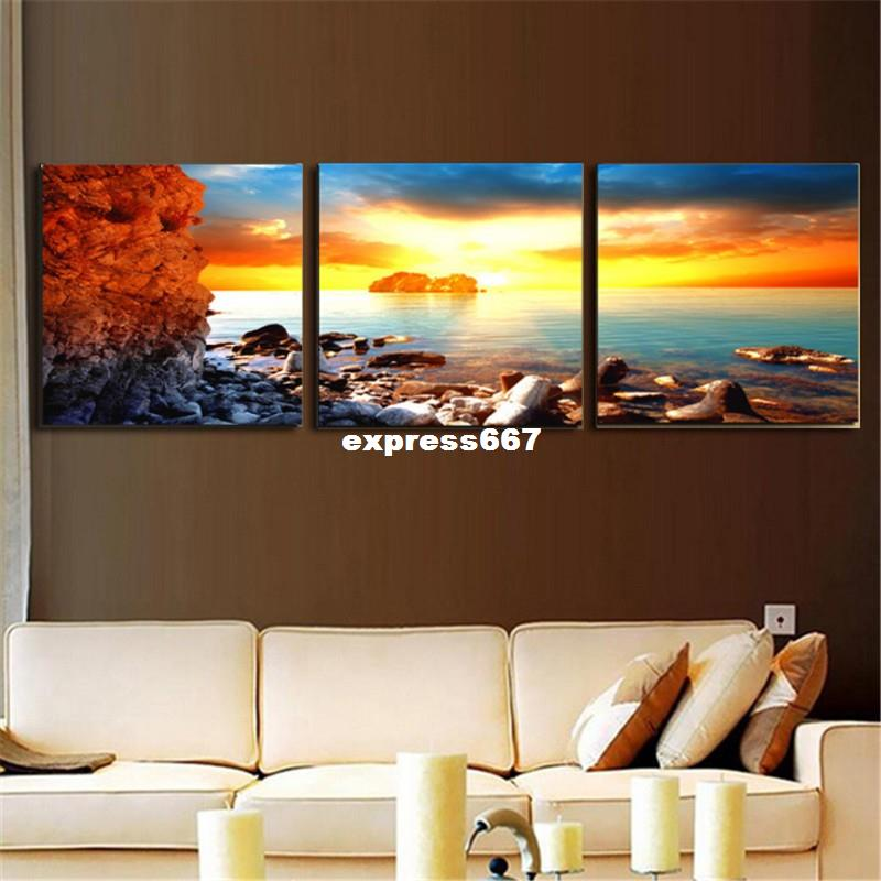Fashion 3 Pieces Only Canvas Home Decor Art Painting Modern