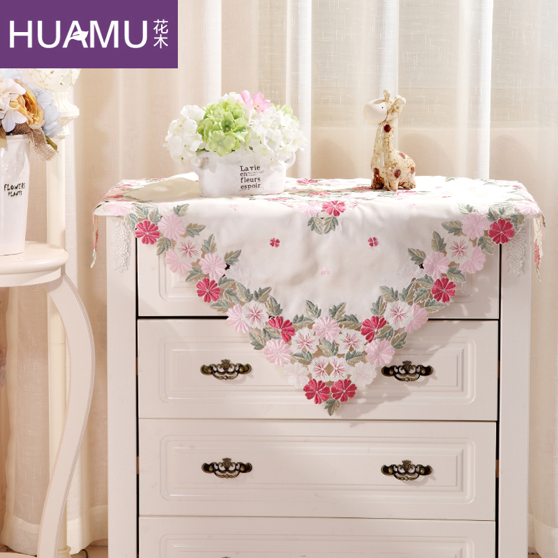 Flower tree chest of drawers table cloth European American garden bedside table set TV cover cloth & USD 15.84] Flower tree chest of drawers table cloth European ...