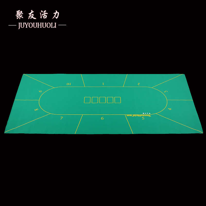 10 Dezhou Poker Table Mat Table Mat Rubber Pad Tablecloth Table Cloth 21  Point Size Dice Treasure 90*180