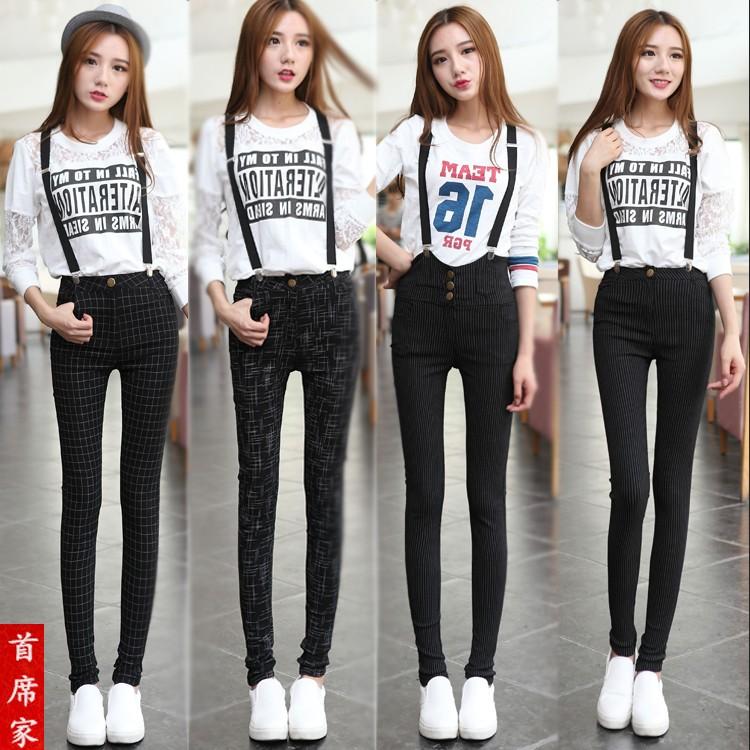 2015夏韩版牛仔背带裤可拆卸吊带宽松大码哈伦小脚女连体裤牛仔裤