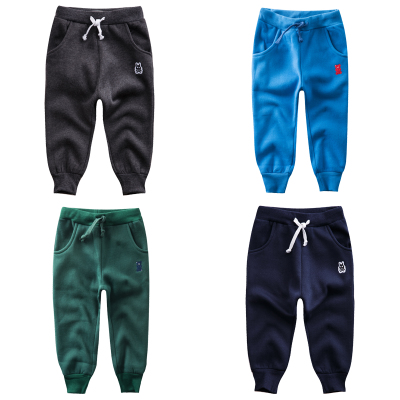 Children's casual pants warm baby autumn pants 2018 new children's Korean sweat pants boys trousers thick