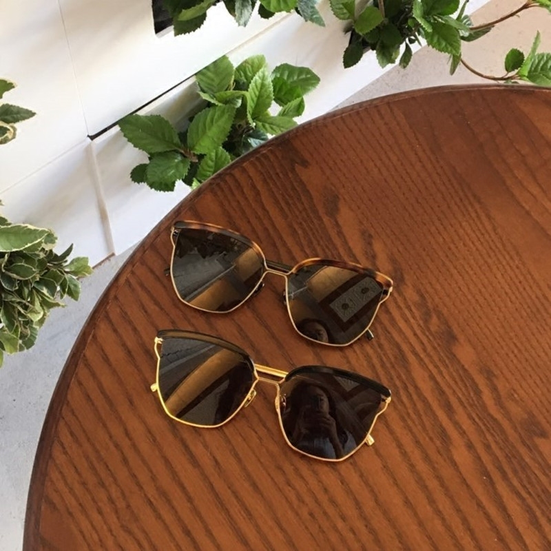 South Korea Lee Min Ho Shi Li with the metal half frame leopard sunglasses retro personality men and women square box sunglasses