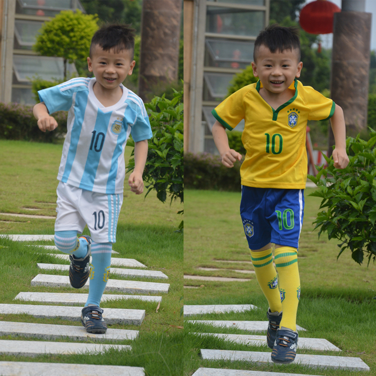 Usd 18 95 Delivery Socks Children S Football Suit Argentina Messi