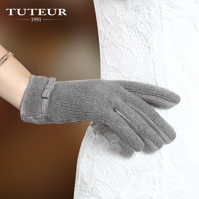 羊绒手臂套袖套女秋冬长款半指露指手套羊毛线保暖加厚针织假袖子