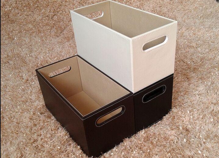 Бесплатная доставка высококачественная кожа копать отверстие CD в коробку CD коробка CD полка CD корзина кора разбираться статьи мусор корзина хранение корзина