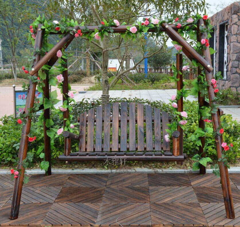 Outdoor Wooden Swing Rocking Chair Hanging Chair Carbonized Wood Outdoor Balcony Garden Solid Wood Home Hanging Basket Cradle Chair Buyinchinese Com Buy China Shop At Wholesale Price By Online English Taobao