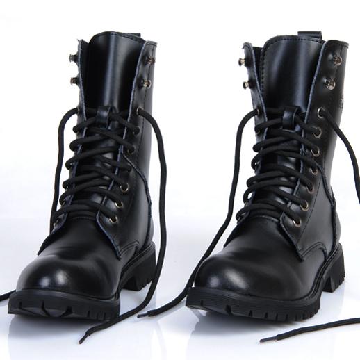 正品男靴英伦韩版马丁靴男士真皮军靴秋季皮靴子男潮鞋情侣机车靴