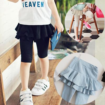 清仓 RTW2016夏装新款女童装弹力棉学院海军风短裙裤RKGK62054