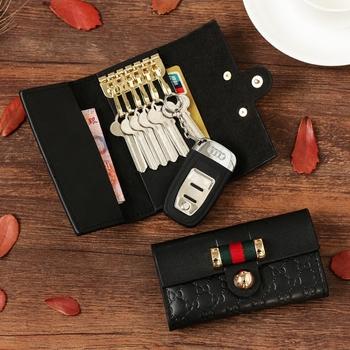 韩国可爱汽车真皮钥匙包 创意多功能卡包