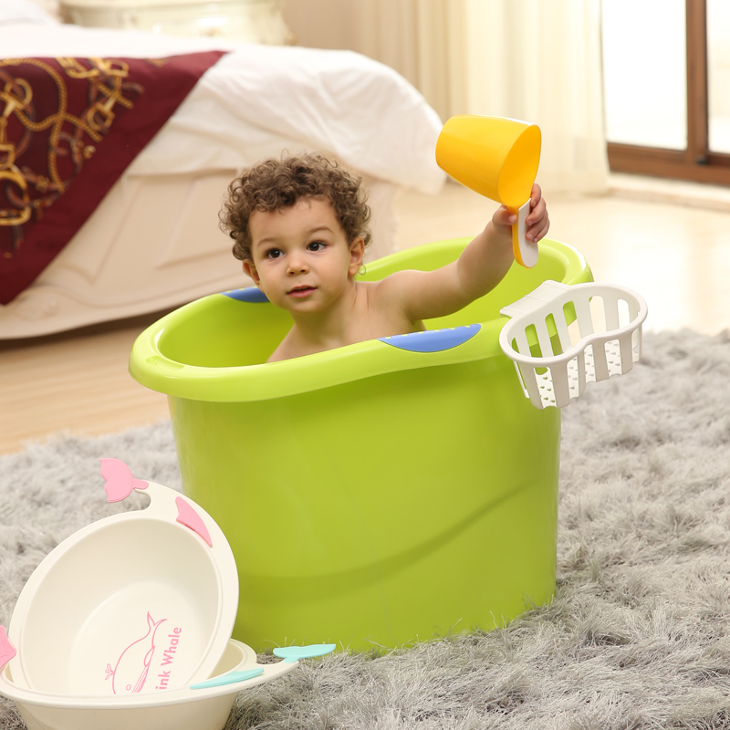 USD 20.76] Baby large tub kids plastic Bath basin child Bath ...