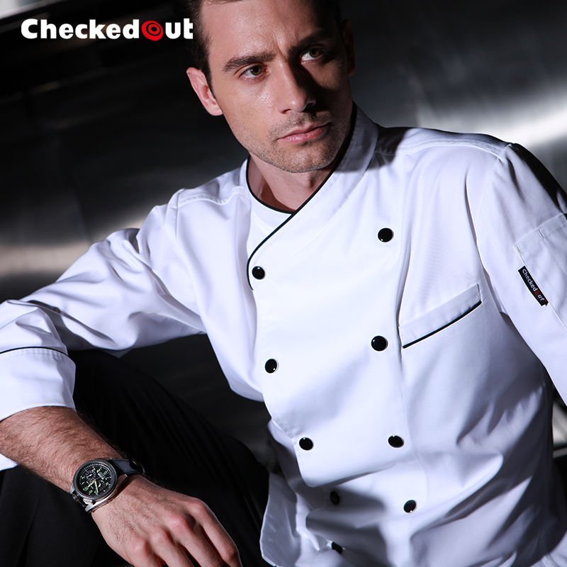 Chefs Wear Long Sleeves Custom Double Breasted Restaurant Chef Clothes Kitchen Master Clothing