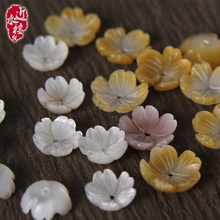 Pearl mother shell, flower petal, white dish, shell carving, flower hat, flower receptacle, black yellow powder, seashell.