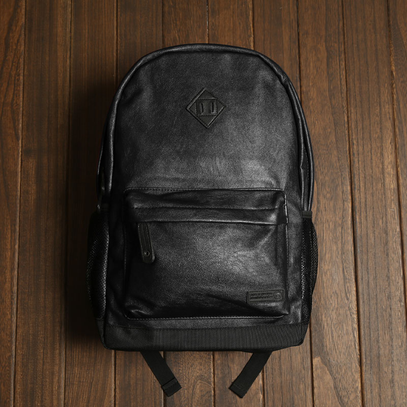 96f90fa21331 ape Japanese retro shoulders trend foreign trade bag men and women outdoor  travel bag PU leather backpack leisure computer bag