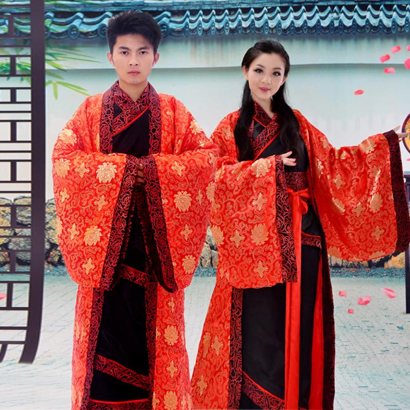 2015新款古装红色新娘新郎中式结婚喜服婚礼汉服唐朝汉朝婚服男女