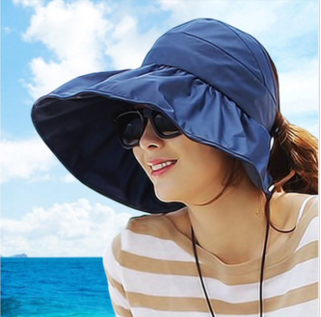 Hat lady sun hat summer Korean anti-UV large along the folding cool hat  beach e30c52bb935
