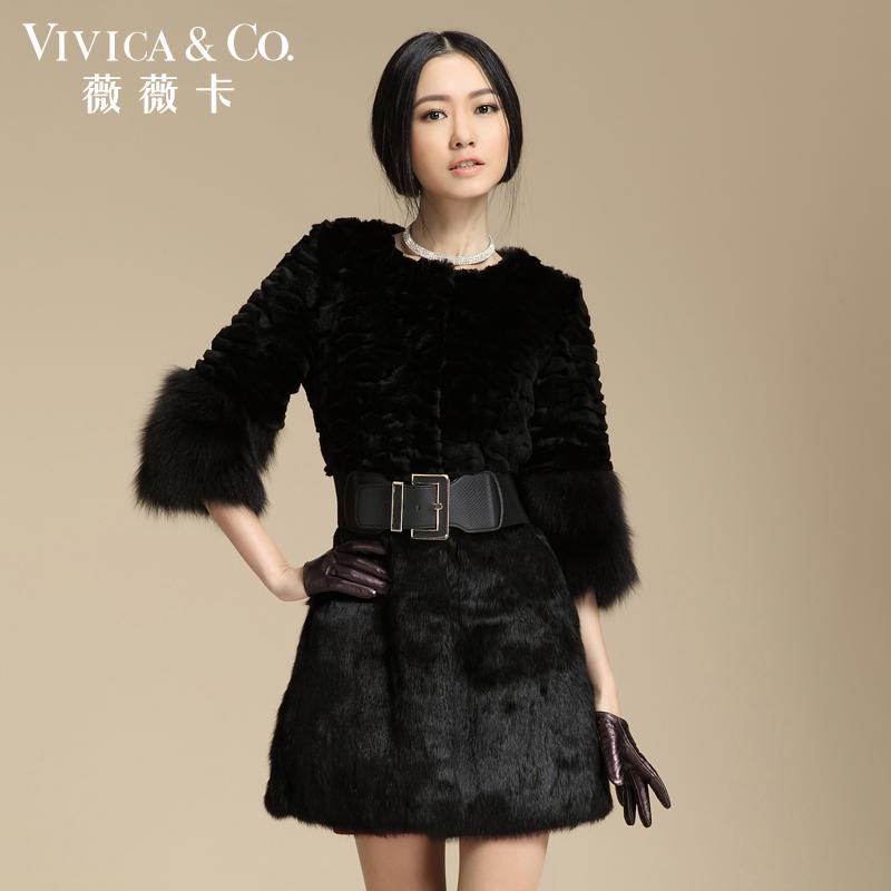 2015冬季新款整皮獭兔毛海宁皮草外套女装长款显瘦大衣清仓特价