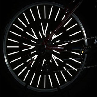 MTB bicycle spokes reflective tape affixed dead fly spokes phosphor paste night Wheels luminous steel strip