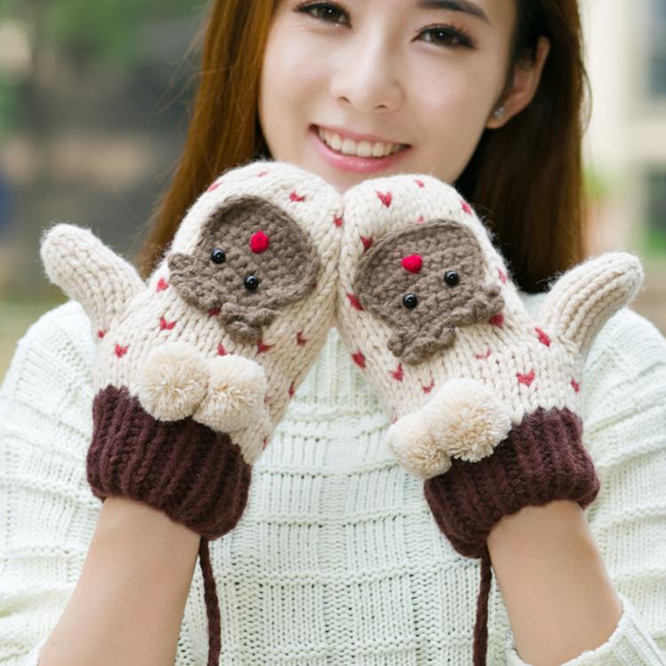 羊绒手臂套袖套女秋冬长款露指半指手套针织加厚保暖羊毛线假袖子
