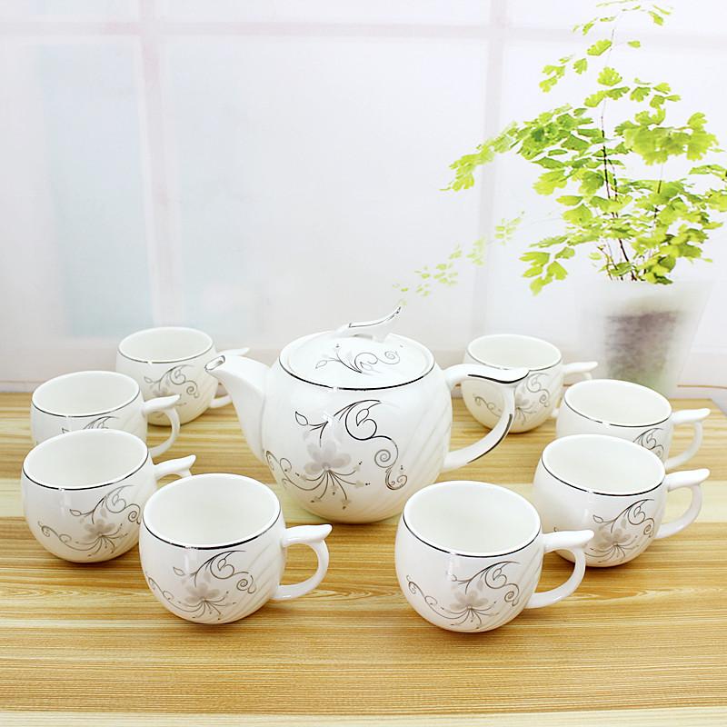 正品雅诚德8+1天堂鸟茶具/瓷器茶壶茶杯9件套茶具/整套茶具/包邮