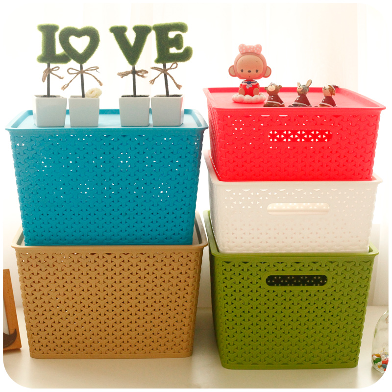 ... lightbox moreview ...  sc 1 st  ChinaHao.com & USD 10.58] Woven storage basket clothes Wardrobe storage box plastic ...