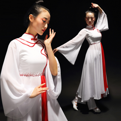 Chinese Folk Dance Costumes Modern Dance Costume Ethnic Dance Costume Ink Classical Yangge Costume Square Dance Adult Fan Dancer