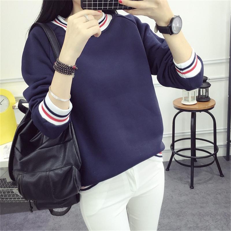 2016款蝙蝠袖卫衣女学生韩版潮加绒加厚小高领套头长袖卫秋冬新衣